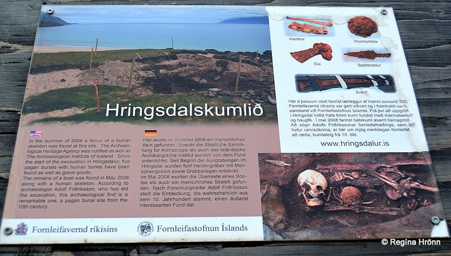Hringsdalskumlið in the Westfjords - pagan grave