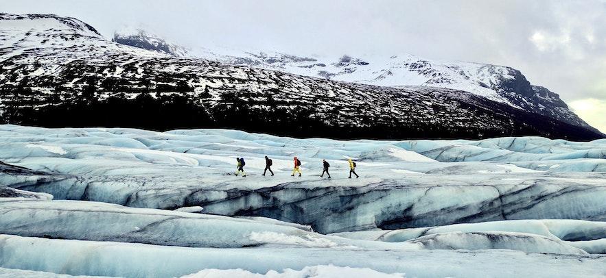 冰島的冰川健行