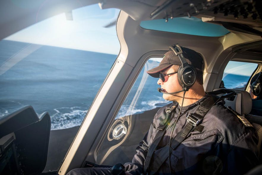 Helicopter Pilots in Iceland are knowledgeable, experienced and passionate about flightseeing.