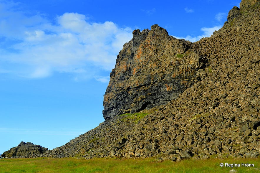 Grettisbæli - the Lair of the Viking Grettir the Strong in Öxarnúpur in North-East Iceland