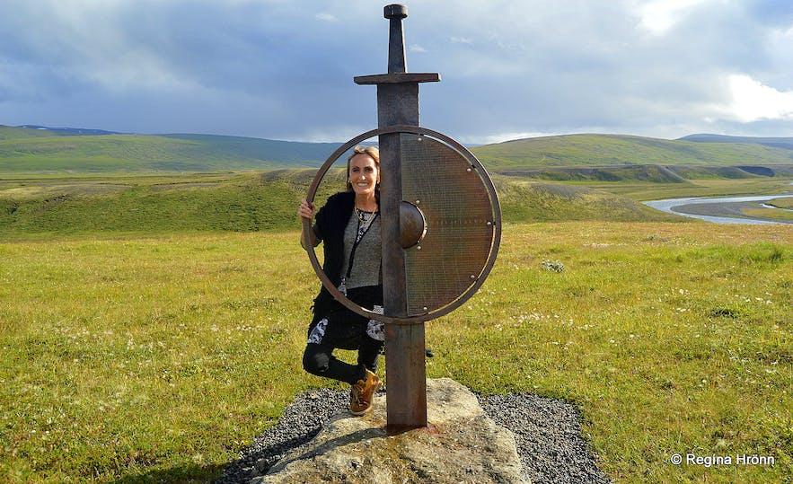 Vopnafjörður - ruins of a Viking longhouse