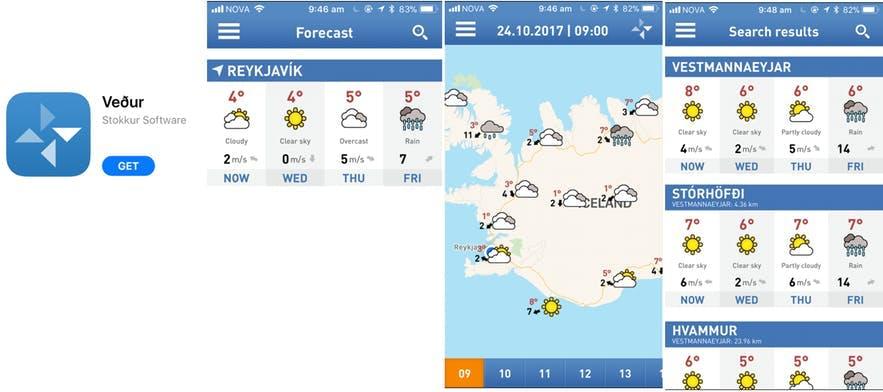 冰岛天气预报APP