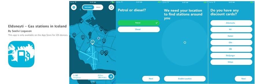 冰岛加油站定位app