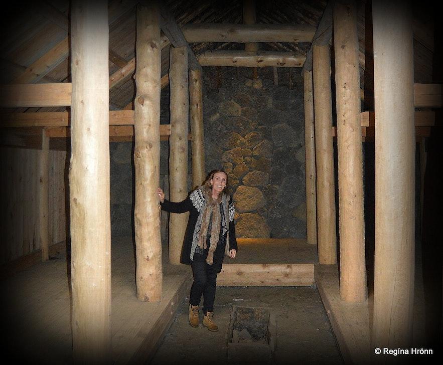 Herjólfsdalur - inside the hypothetical Viking longhouse
