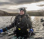 Stop at Silfra fissure for a diving tour as you travel the Golden Circle.