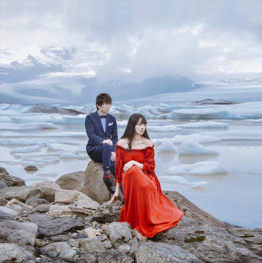 冰河湖婚纱照