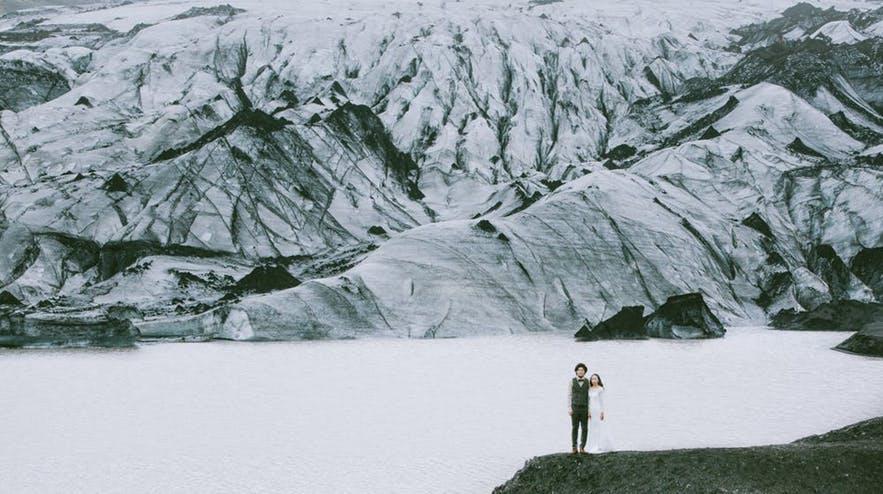 冰岛冰川婚纱拍摄