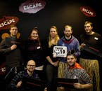 Groups are photographed at the end with their winning escape times!