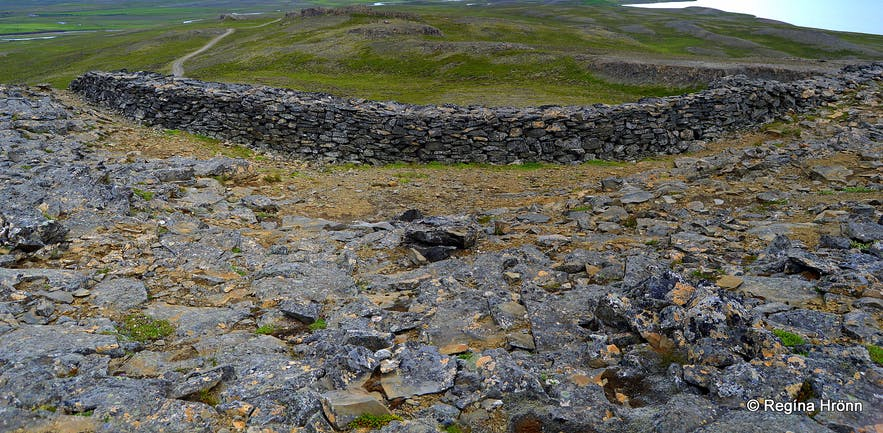 Borgarvirki Fortress in North-West Iceland - was this a Viking Fortress?