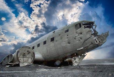 Karte Island Flugzeugwrack.Sudkuste Gletscherwanderung Dc 3 Hohlenerkundung