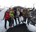 Glacier hiking is an activity that's fun to do with a group of friends or family!