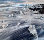 La magnifique plage de Diamants sur la côte sud de l'Islande est un spectacle à ne pas manquer