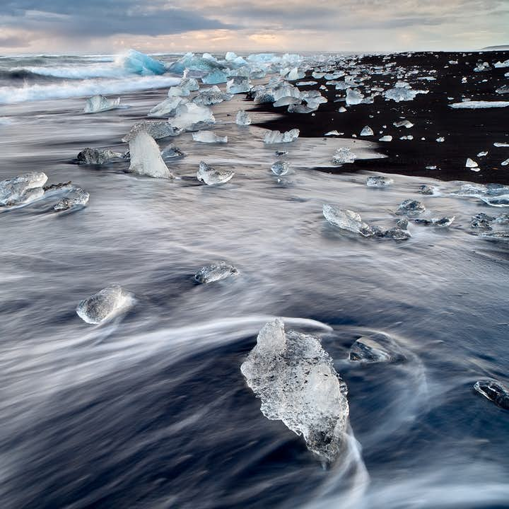 The gorgeous Diamond Beach on Iceland's South Coast is a sight not to be missed