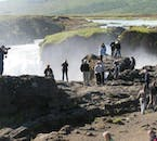 At Goðafoss waterfall, you'll get a fantastic view of this beautiful feature.