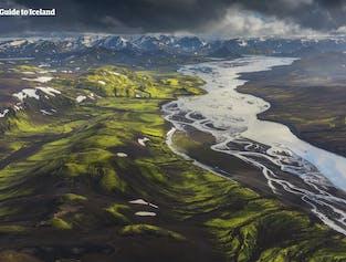 Besuche das zentrale Hochland und sehe dir die unberührte Schönheit dieses unbewohnbaren Gebiets an.