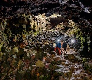 뢰이파르홀스헤들리르 용암 동굴 탐험 | 레이캬비크 출발