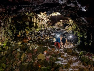 The Lava Tunnel at Raufarholshellir Cave | Departure From Reykjavik