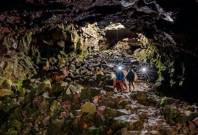 The Lava Tunnel at Raufarholshellir Cave   Departure From Reykjavik