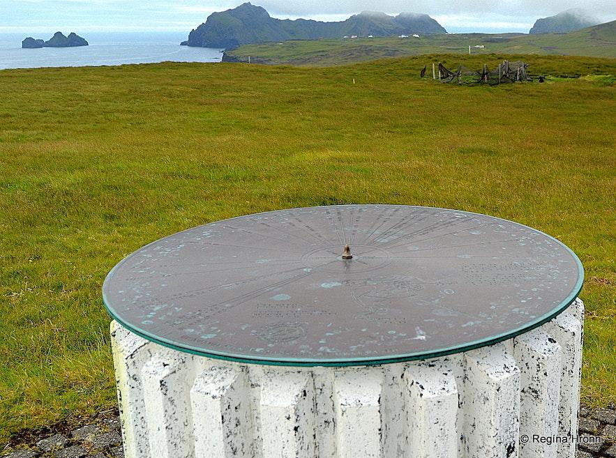 The view-dial on Stórhöfði cape