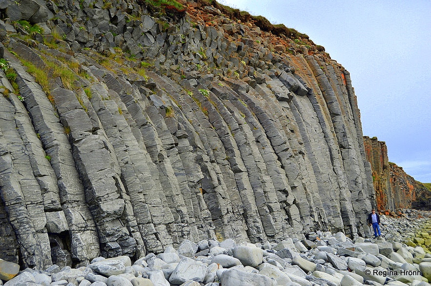 Amazing basalt columns at Kálfshamarsvík cove at Skagi North-Iceland