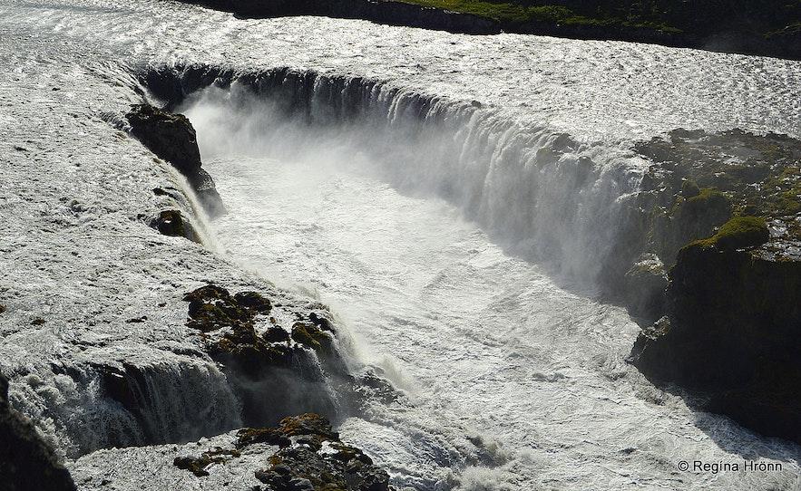 Réttarfoss waterfall in Jökulsárgljúfur canyon