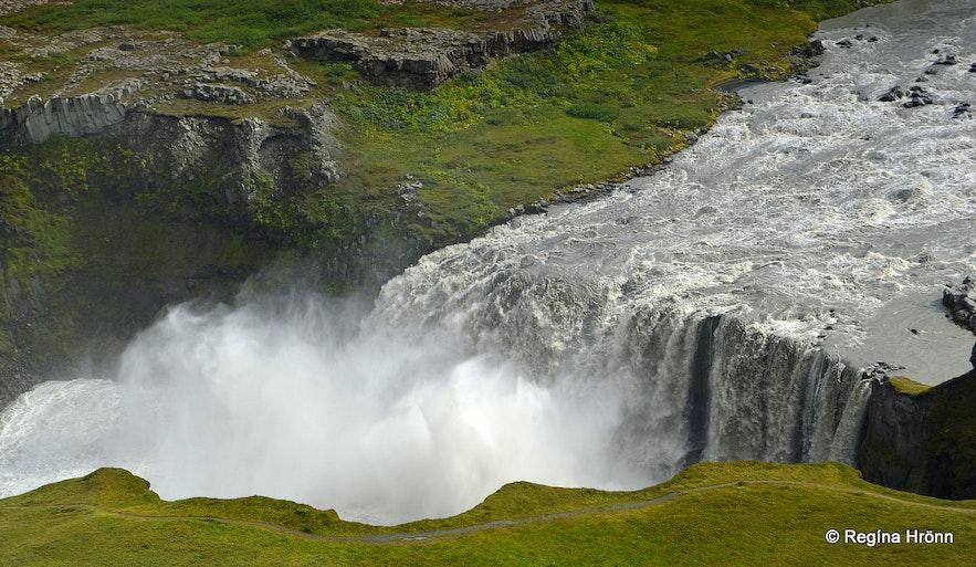 Hafragilsfoss waterfall North-Iceland