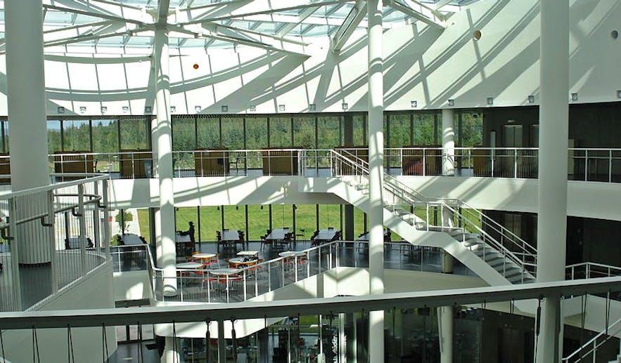 An interior shot of Reykjavík University,