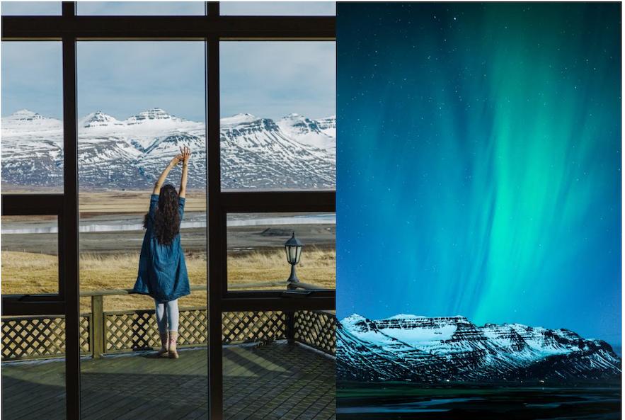 冰島東部極光住宿
