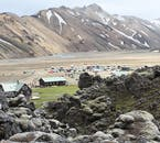 Travel past colourful mountains of the Icelandic Highlands with The Golden Hikers Bus Pass.
