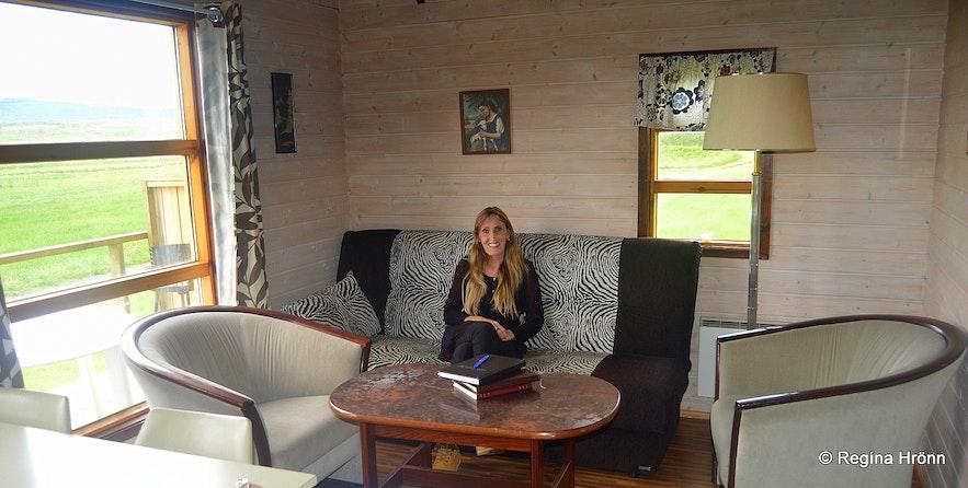 Regína at The summer cottage at Dæli