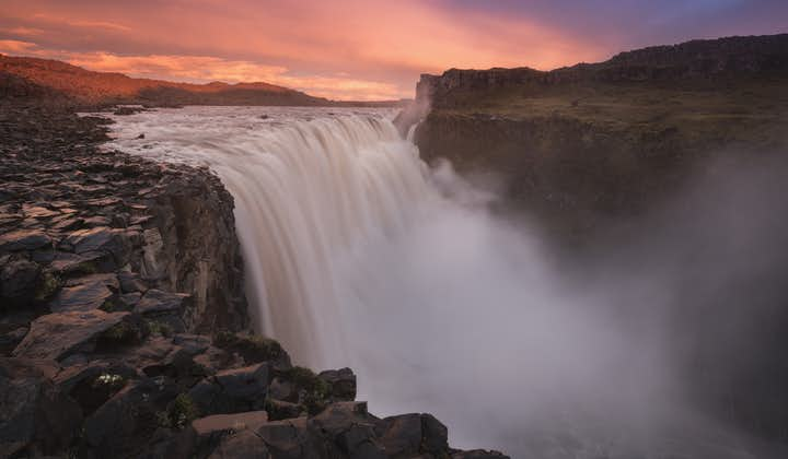 Dettifoss, found in Vatnajökull National Park, is Iceland's most powerful waterfall.