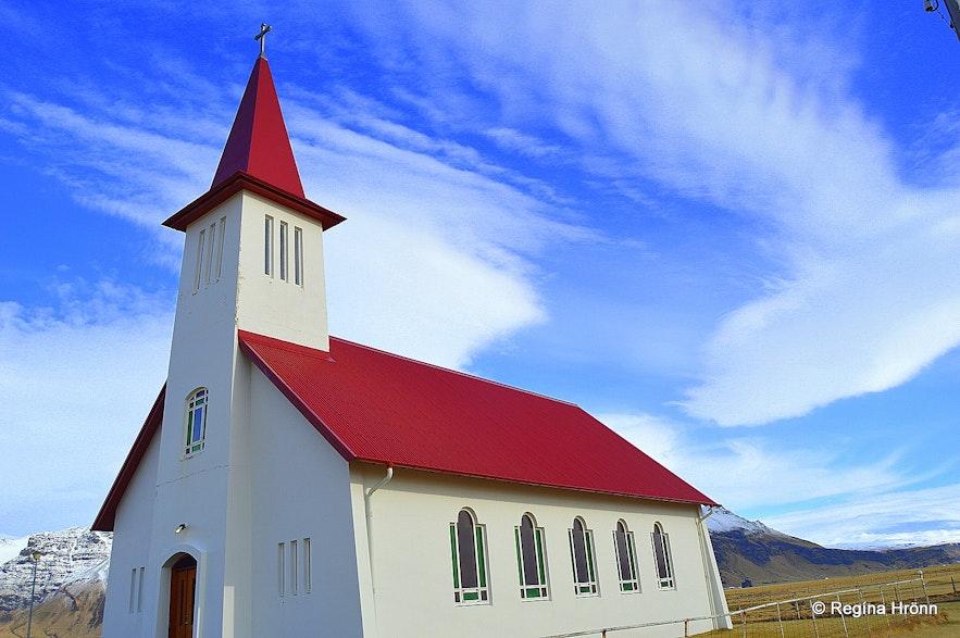 Eyvindarhólakirkja church in South-Iceland