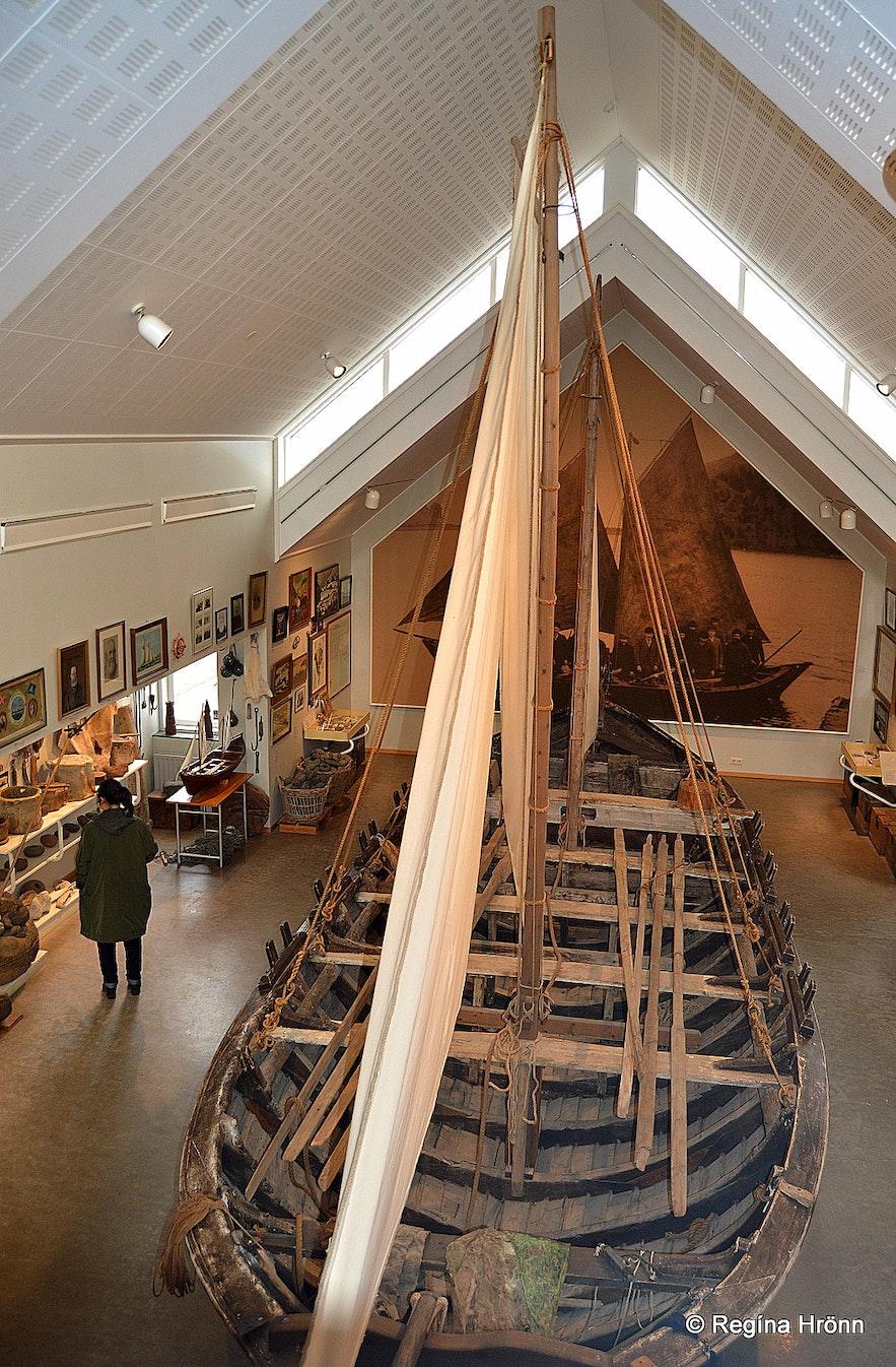 Pétursey boat at Skógasafn museum