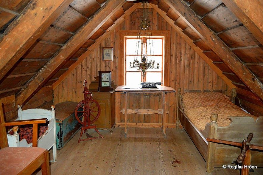 Skógar turf houses in South-Iceland inside
