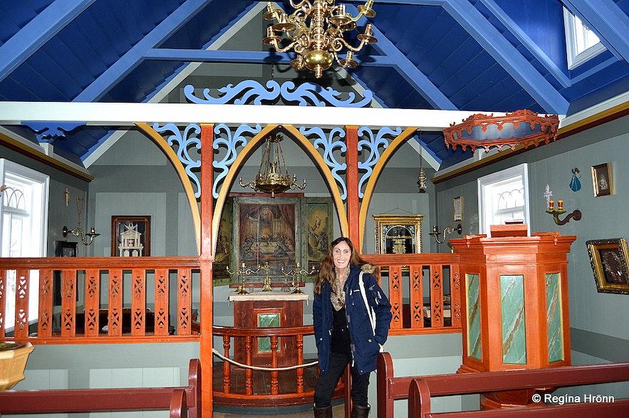 Inside Skógakirkja church at Skógar