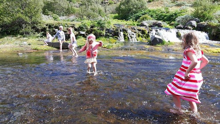 Vielleicht möchtest du deine Zehen bei dieser Tour an Islands Südküste in den Fluss Rauðá tauchen...