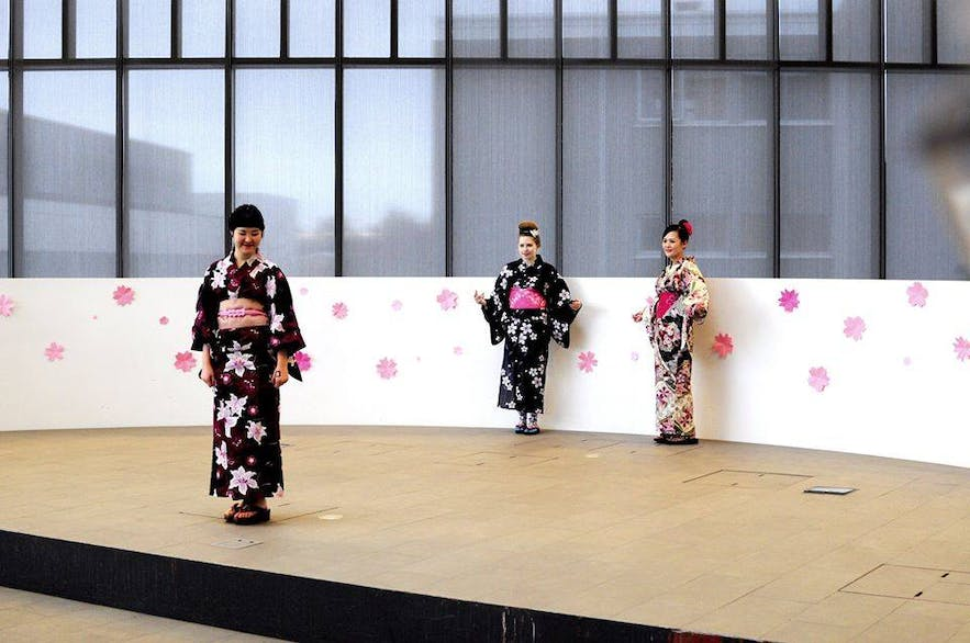A performance as part of the Japan Festival, organised by the University of Iceland and the Japanese Embassy,