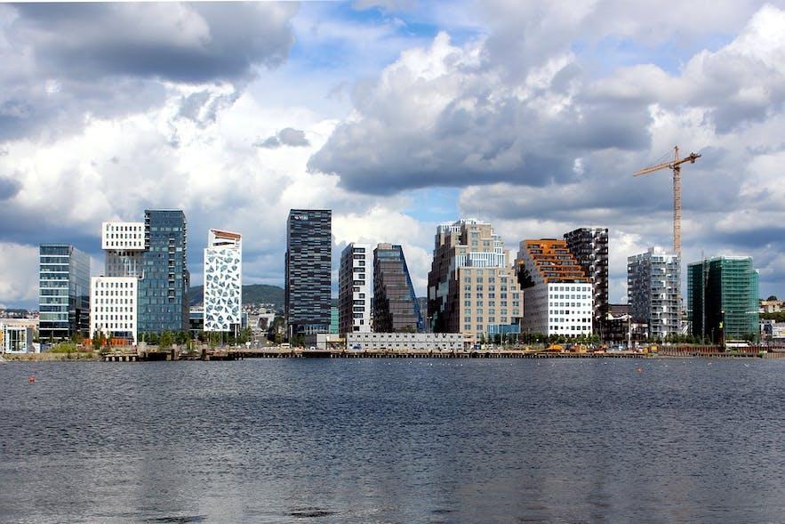 Skyscrapers in Oslo, Norway.