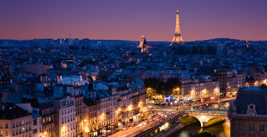 The French capital, Paris.
