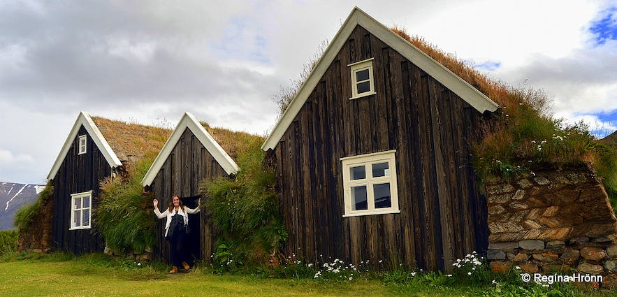Nýibær turf- house in north Iceland