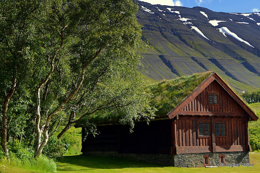 Auðunarstofa log-house in north Iceland