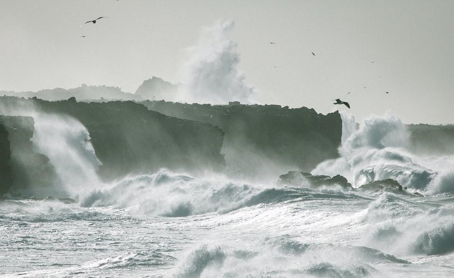 冰島的巨浪