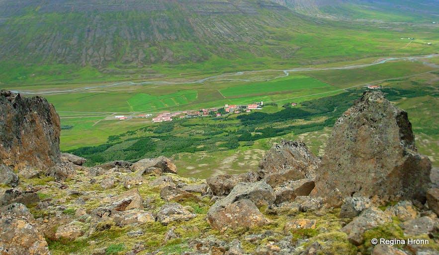 Mt. Gvendarskál overlooking Hólar in north Iceland