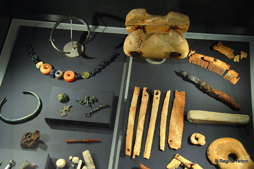 Viking artefacts at the National Museum of Iceland
