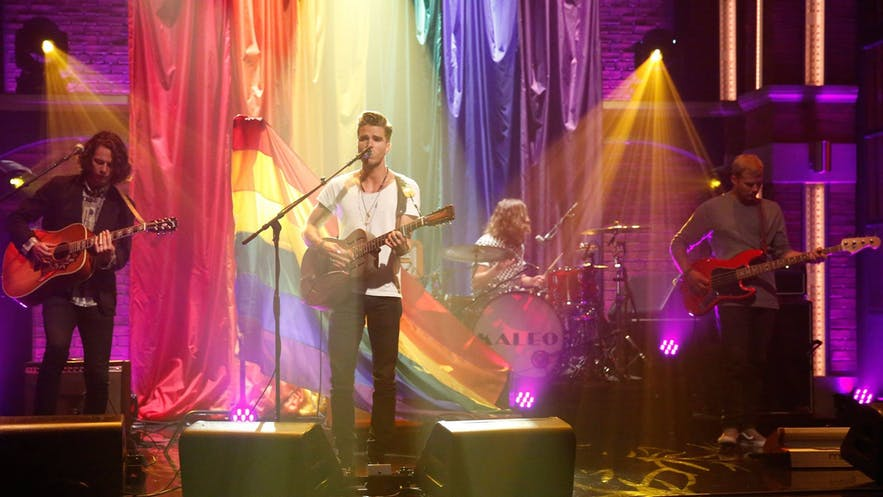 """Kaleo performing on """"Late Night with Seth Meyers""""."""