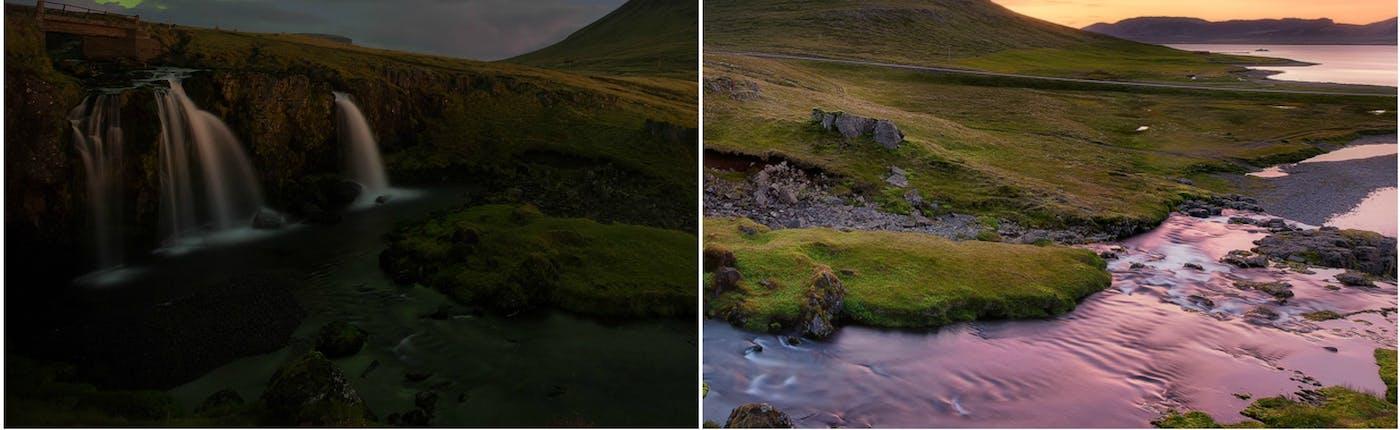 キルキュフェットル山も冬と夏でこんなに違う