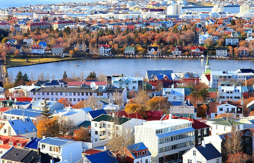 The colourful patchwork quilt that is Reykjavik's cityscape.