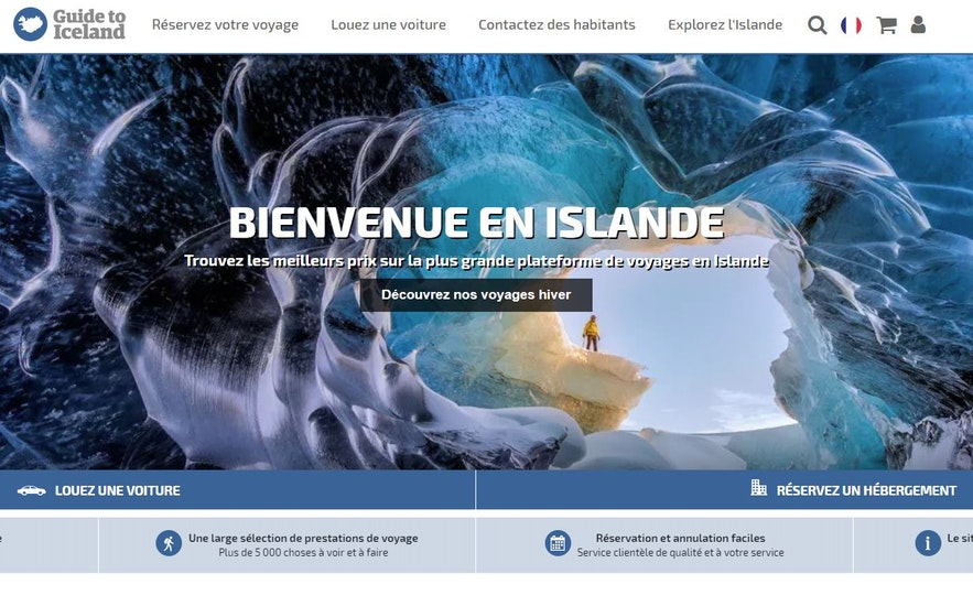 Site internet Guide to Iceland