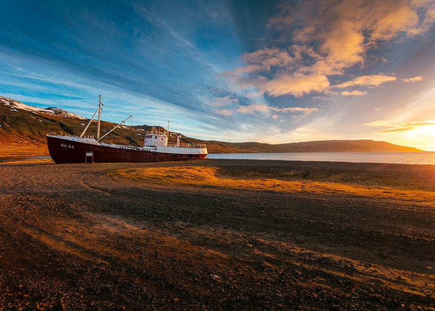 冰島西部峽灣景點冰島的十月