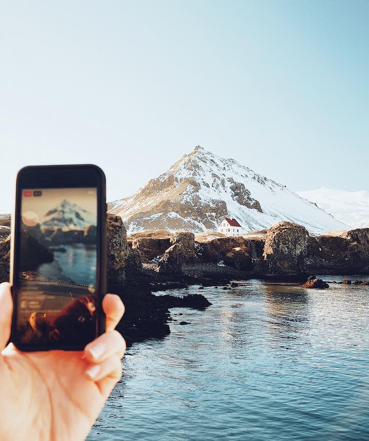 冰島11月初冬的西部斯奈山半島